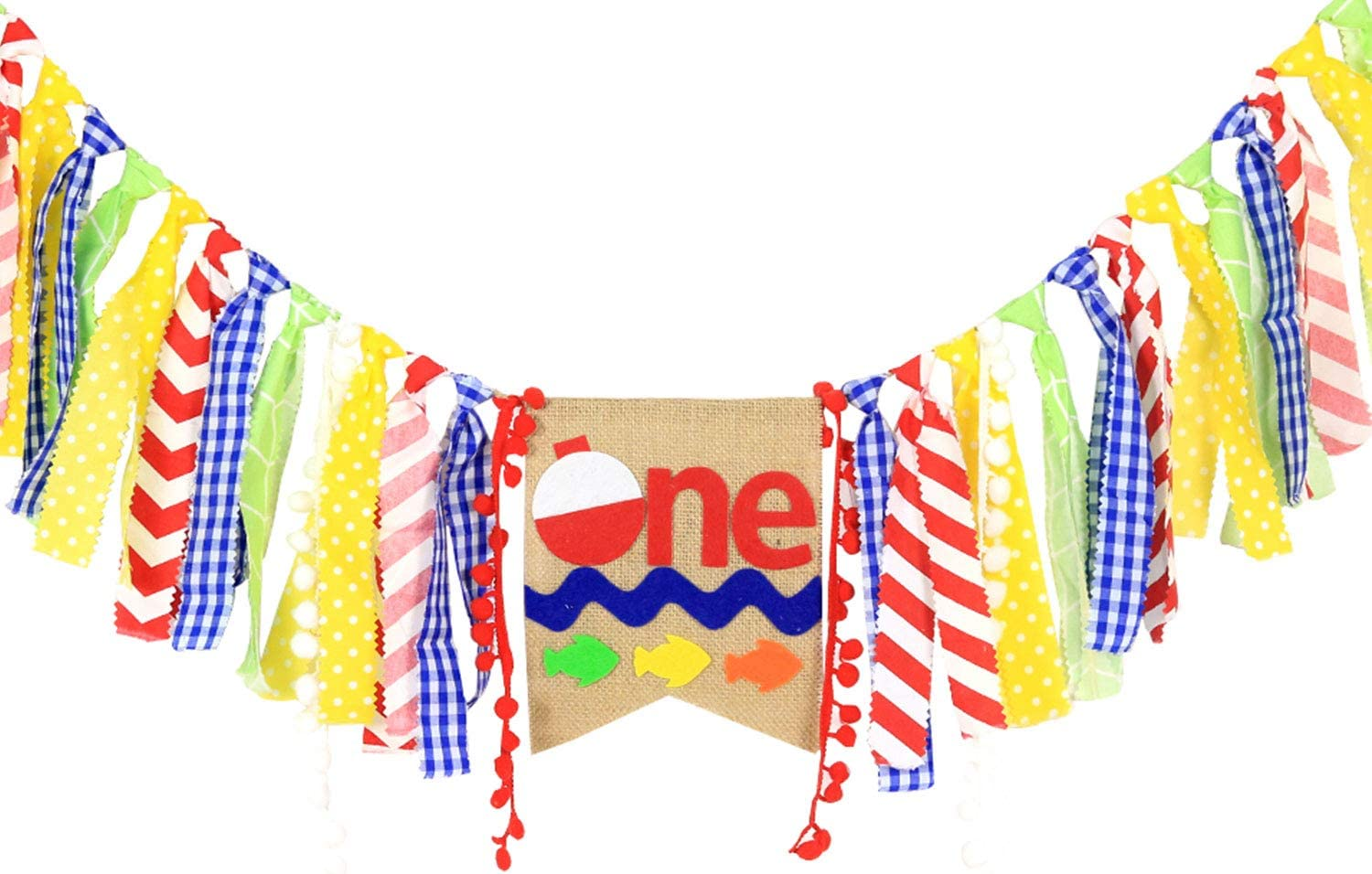 WAOUH High Chair Banner for 1st Birthday - First Birthday Decora