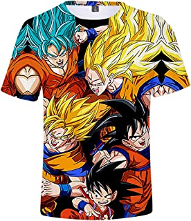 Dragon Ball Z Goku Pattern 3D Print Short Sleeve Anime t Shirt for Men and Women