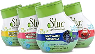 Stur - Founder's Favorites Variety Pack, Natural Water Enhancer – Vitamin C High Antioxidant, Sugar Free, Zero Calories, K...