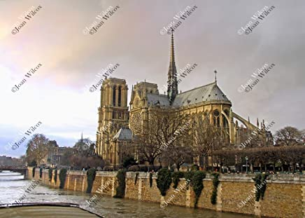 Winter Notre Dame Cathedral Paris France Europe Religious Architecture Church Original Fine Art Photography Wall Art Photo Print