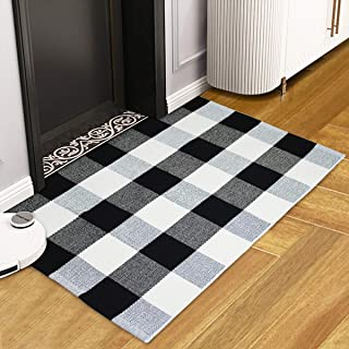 "UVOGOM Front Door Mat Outdoor, Indoor Entryway Doormat Welcome Mats Buffalo Plaid Checkered Rug for Room Decor Bathroom Bedroom Farmhouse Kitchen Laundry Porch, 23.6""x35.4"""