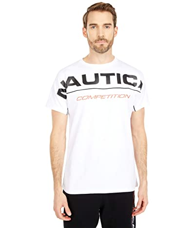 Nautica Competition Short Sleeve T-Shirt (Bright White) Men