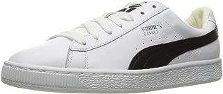 PUMA - Womens Basket Classic LFS Shoes, 9 B(M) US, Puma White/Puma Black