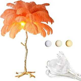 GQCTXHZ Lampadaire en Plumes de 67 Pouces, Corps de Lampe en Résine Réglable à 3 Températures de Couleur Lampes sur Pied é...