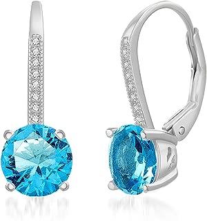 Best blue topaz drop earrings Reviews