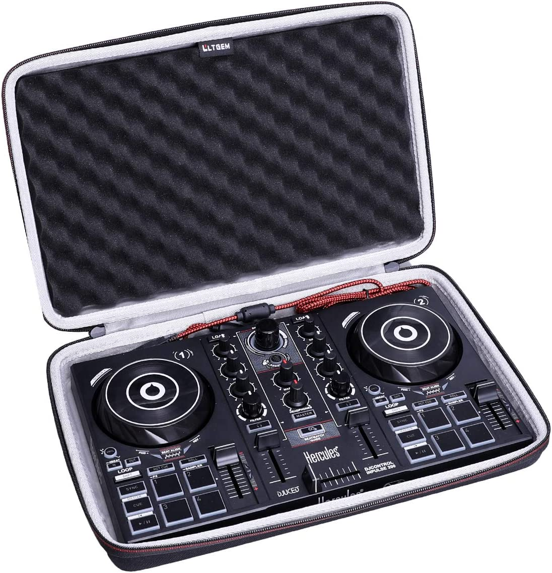 LTGEM Tucson Mall Very popular Case for Hercules DJ Portable Control 200 USB Inpulse
