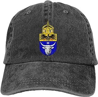 Unisex German West African Friendship Emblem Vintage Adjustable Baseball Cap Denim Dad Hat