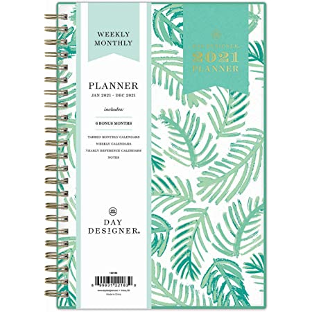 Twin-Wire Binding Day Designer for Blue Sky 2019-2020 Academic Year Weekly /& Monthly Planner 5 x 8 Flexible Cover Palms