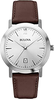 Bulova Men's 38mm Classic Brown Strap Watch