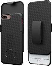 iPhone 8 Plus Case, iPhone 7 Plus Belt Clip & Holster Combo, Ailiber Slim Armor Shock Proof Screen Shell Cover Protector, Swivel BeltClip Kickstand for Apple iPhone 8Plus, 7Plus (5.5 inch) - Black