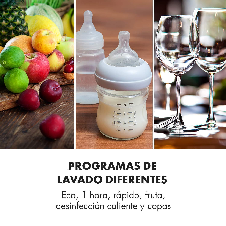 Klarstein Amazonia Mini Lavavajillas - Función Vapor y Secador ...