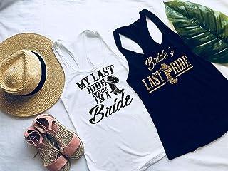Bachelorette Party Shirts - Bachelorette Party - My Last Ride Before I'm the Bride - Bride's Last Ride - Bachelorette Tanks - Bridal Party Shirts