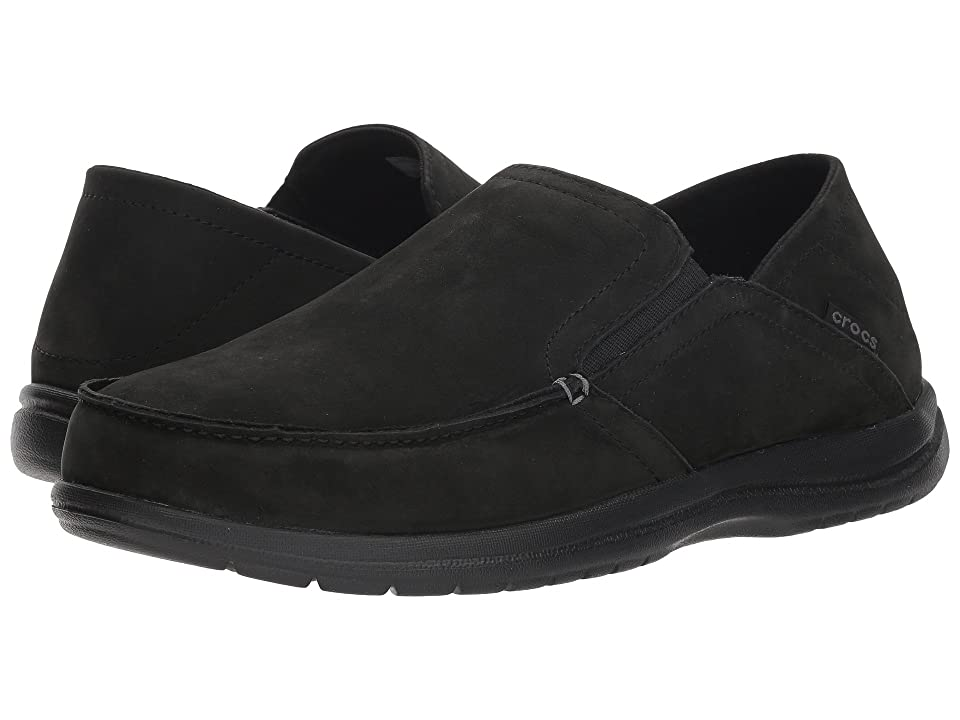 Crocs - Crocs Santa Cruz Convertible Leather Slip-On