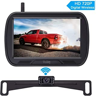 Yakry Y25 HD Digital Wireless Backup Camera System 5 Inch Monitor Hitch Rear View License..