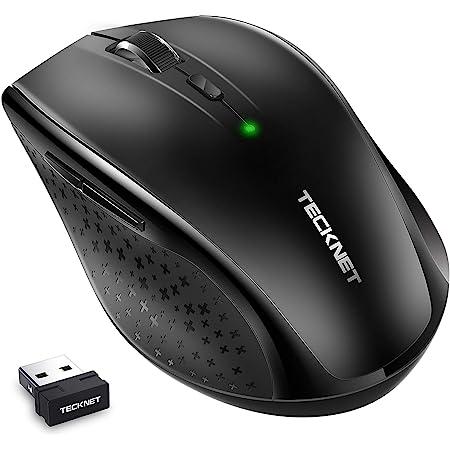 TECKNET Ratón Inalámbrico Silencioso, Ratón Inalámbrico 2.4G con Nano Receptor, 90% de Reducción de Ruido, 3000 dpi 5 Niveles Ajustable para PC, Chromebook, Macbook, Notebook