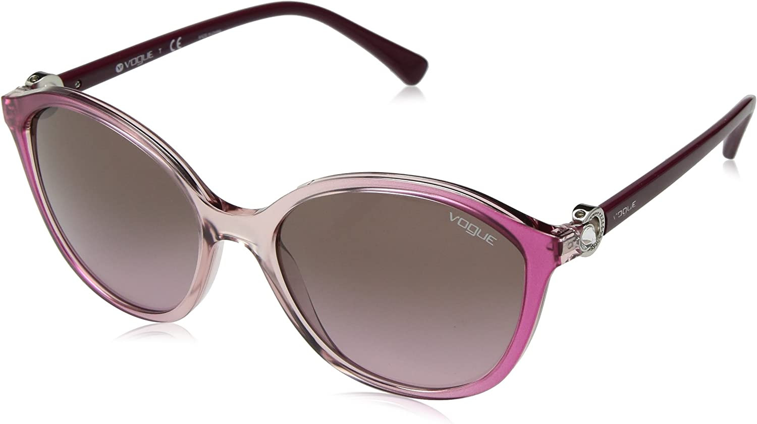 VOGUE Women's 0vo5229sb Oval Sunglasses TRANSPARENT LIGHT PINK GRADIENT 57 mm