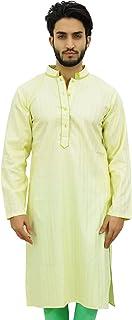 Atasi Men's Long Cotton Mandarin Collar Shirt Ethnic Clothing