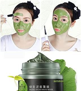 Mung Bean Mask ,Jinjin Mung Bean Mask Mineral Oil Control Face Clean Moisturizer Whitening Care Cream (green)