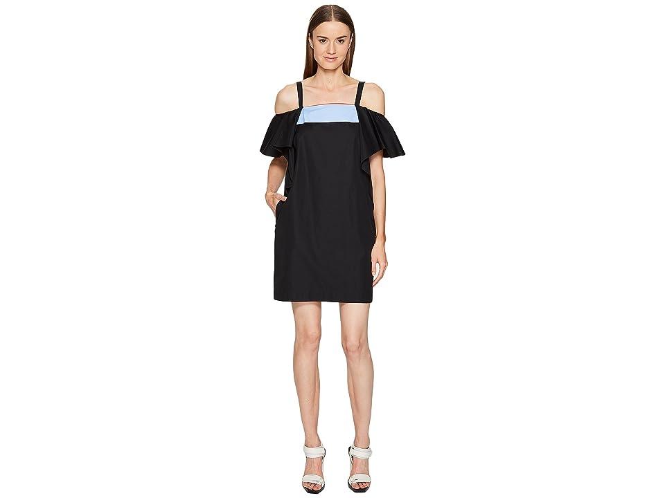 Sportmax Tedesco Strapless Ruffle Dress (Black) Women