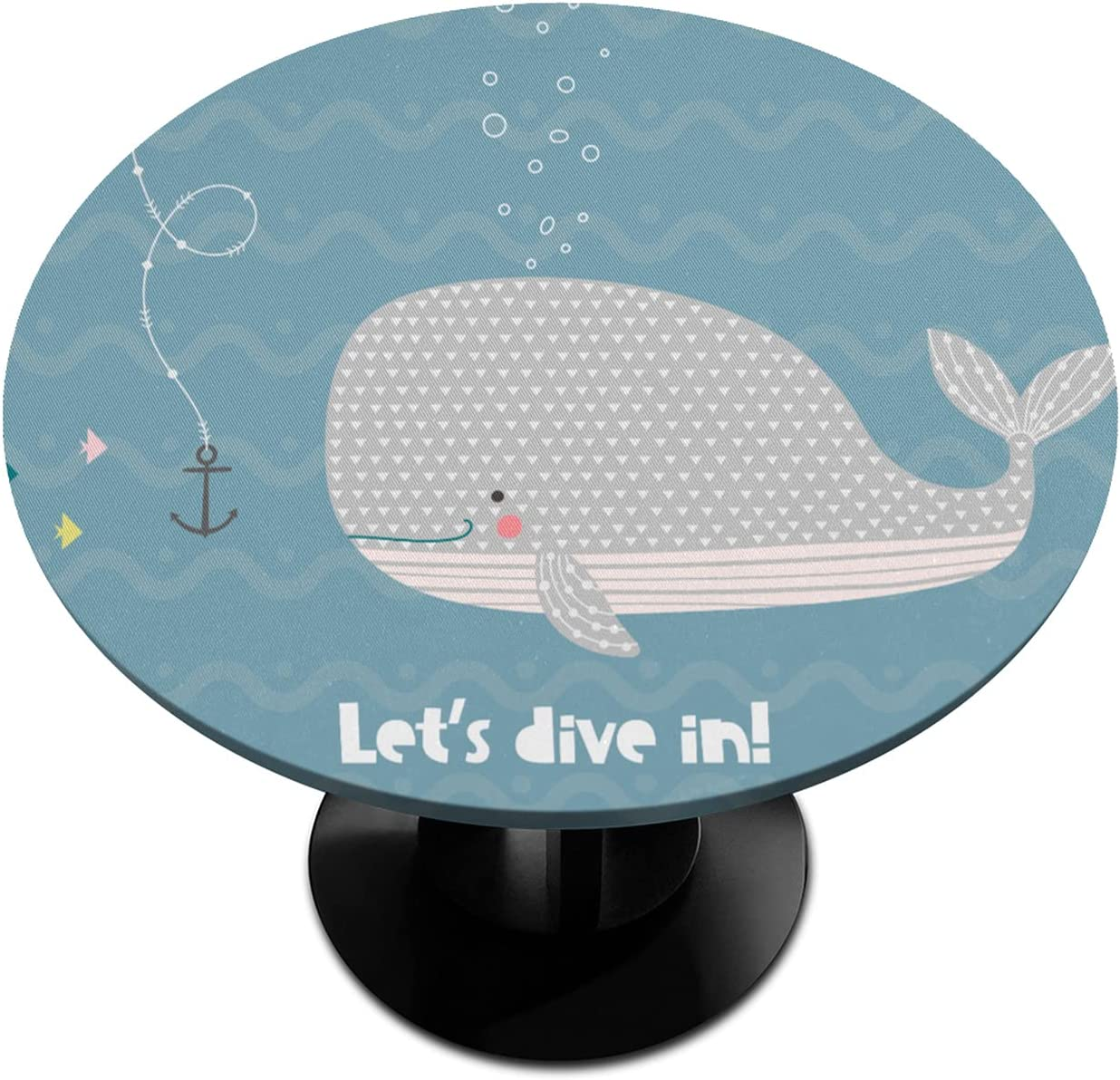 Round Fitted Tablecloth Soldering with Elastic in 100% quality warranty Let's Edged Dive Whale