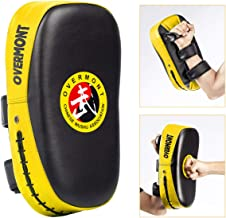 Overmont Taekwondo Kick Pad with Curved Punching Surface Karate Kicking Shield PU Leather for Boxing Martial Art Kickboxin...