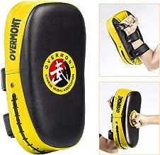 Overmont Taekwondo Kick Pads Boxing Karate Pad PU Leather Muay Thai MMA Martial Art Kickboxing Punch Mitts Punching Bag Kicking Shield Training (1PC)