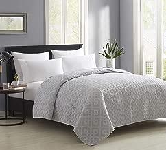 "Bourina Reversible Quilt Bedspread and Coverlet 90"" x 90"" Microfiber Comforter-Full/Queen"