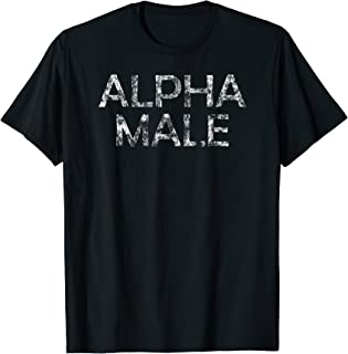 Alpha Male Gym Fit Life Fitness Distressed T Shirt