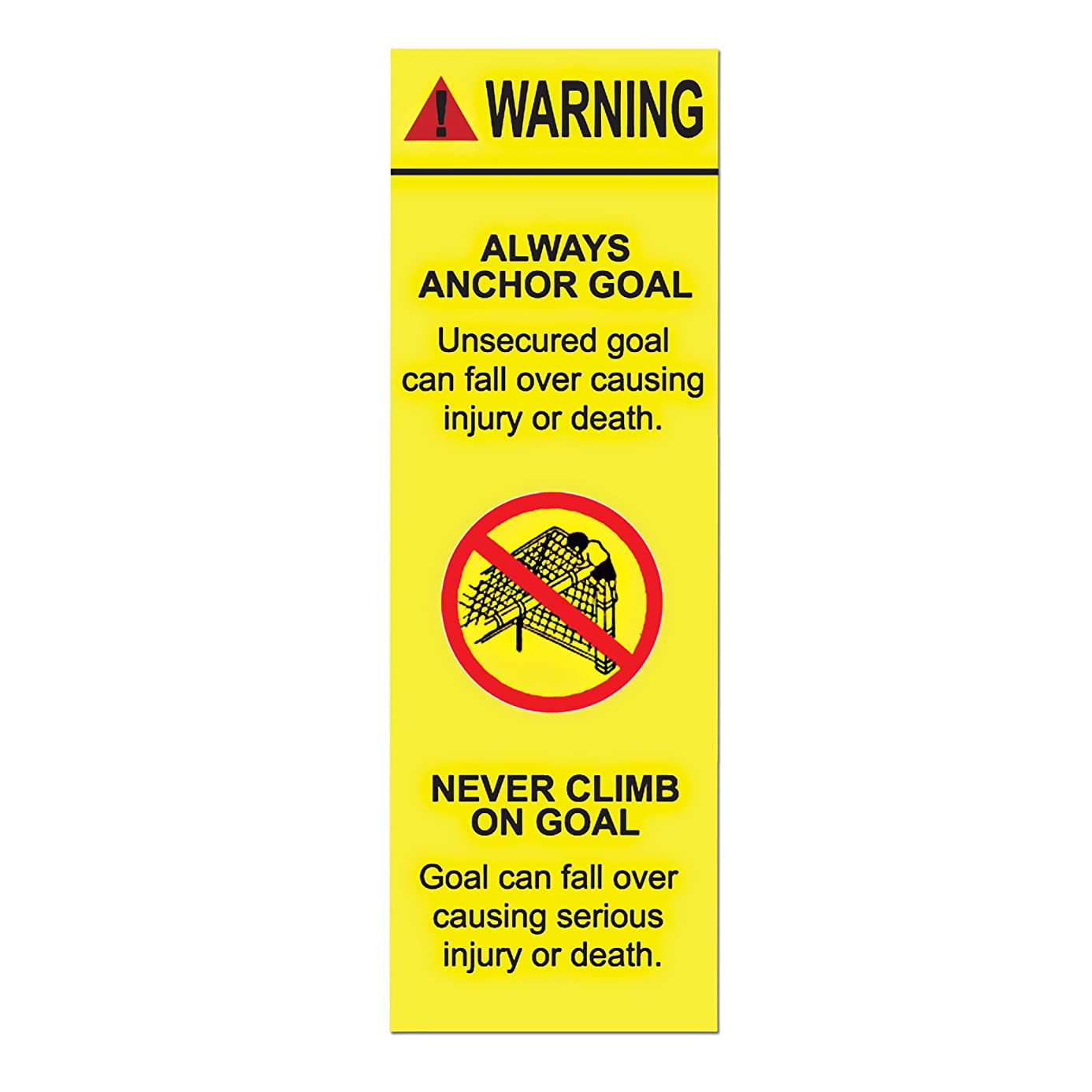 Agora Goal Warning Stickers - Pack of 10