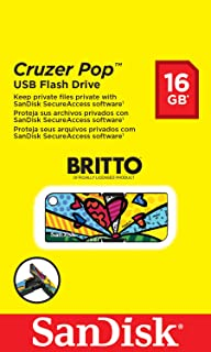 SanDisk Cruzer Pop USB Flash Drive 16 GB USB 2.0 Britto