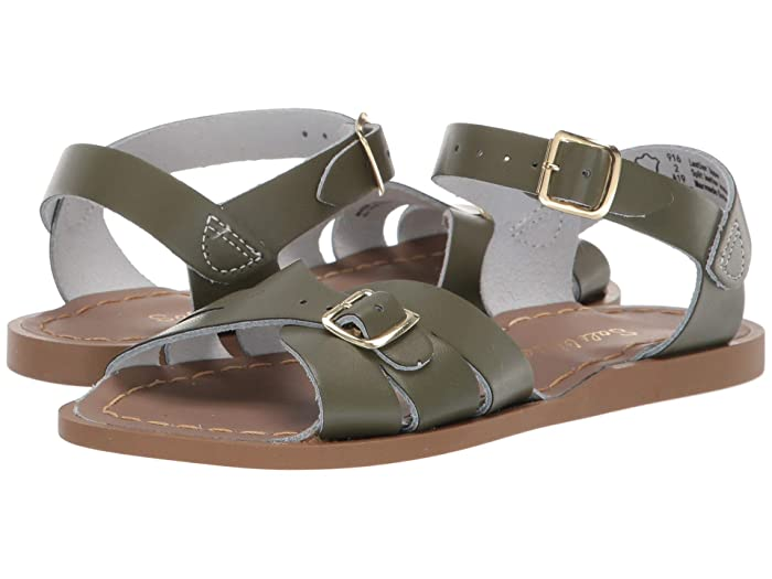 Salt Water Sandal by Hoy Shoes  Classic (Little Kid) (Olive) Girls Shoes