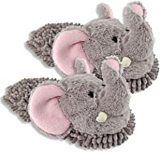Women's Aroma Home Elephant Fuzzy Friends Slippers,Gray,One Size