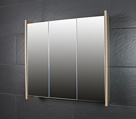 Charmant Armoire à Miroir Galdem Frosti De 70 Cm, Meuble Pour Salle De Bain Avec 3