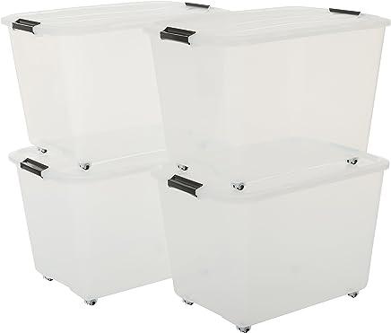 400 x 300 mm Euroapilable//resistencia industrial anidable Pack de 10 x 16 litros gris peque/ño apilado//nido 180/º caja de almacenamiento de pl/ástico contenedor caja de almacenamiento