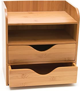 "$23 » Lipper International 1804 Bamboo Wood 4-Tier Desk and Office Supply Organizer, 7 5/8"" x 5 1/8"" x 8 1/4"""