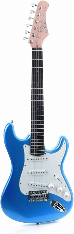 EKO - S-100 3/4 METALLIC BLUE, Guitarra eléctrica medida reducida escala 3/4, Color Metallic Blue