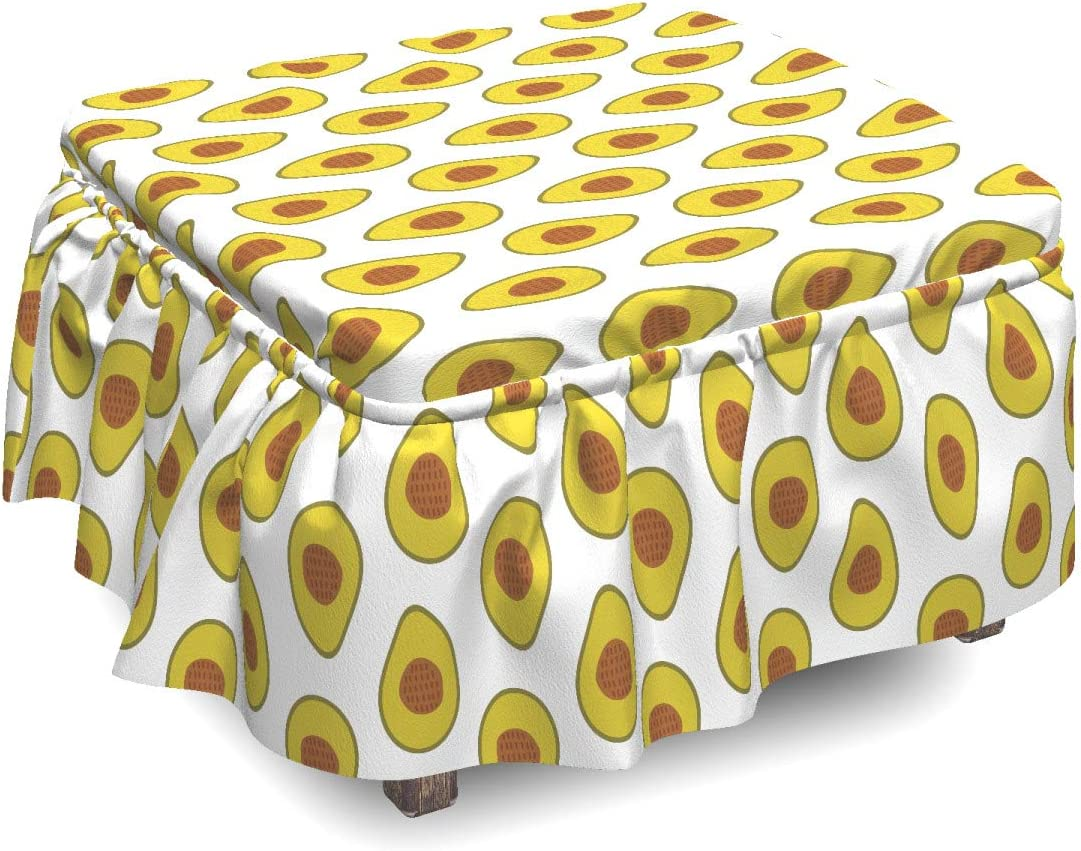 Ambesonne Avocado Popularity Ottoman Cover Composition SALENEW very popular! Exotic Tropical 2