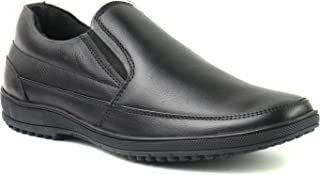XY HUGO Moccasin Black Leather Formal Shoe with Rubber Sole-8
