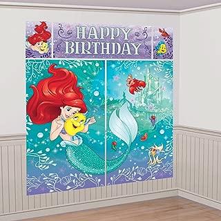Disney Little Mermaid Ariel Scene Setters Wall Banner Decorating Kit Birthday Party Supplies