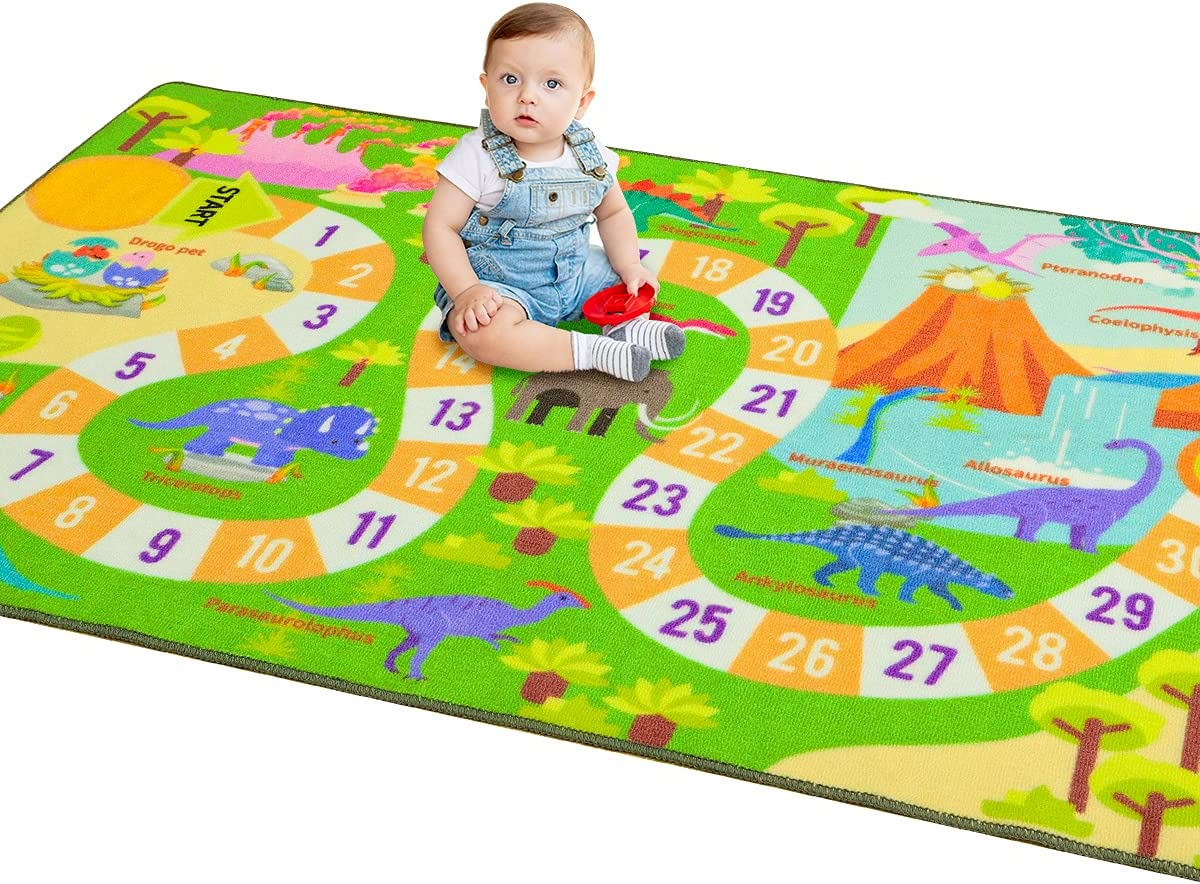 Amearea Limited price sale Large Kids Dinosaur Rug for Educational Games Play Los Angeles Mall Mat