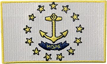 Rhode Island State Flag Embroidered Emblem Iron On Sew On RI Patch
