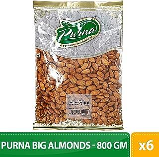 Purna Big Almonds - 800 gm(Pack of 6)