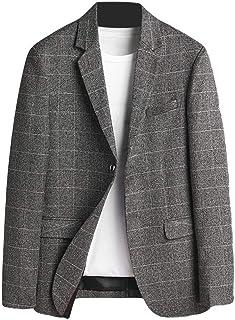Schoon Mannen Plaid Slim Notch Revers Twee Button sportcoat Blazer Jacket Opgeruimd