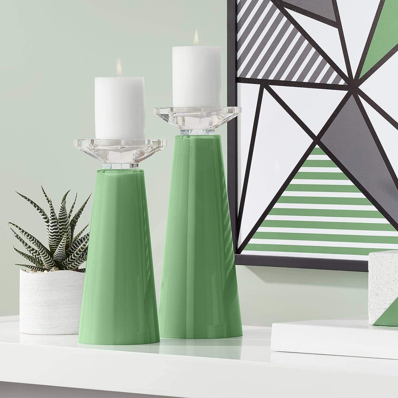 Color + Plus Meghan Garden favorite Grove Candle Overseas parallel import regular item Glass Pillar Set Holder
