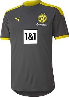 PUMA 2020-2021 Borussia Dortmund Training Football Soccer T-Shirt Jersey (Asphalt)