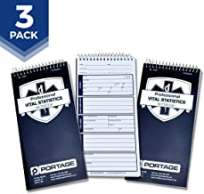 """EMT/First Responders Vital Statistics Notebook – 8"""" x 4"""" Medical Notebook for Vital Signs and Additional Patient Information – 210 Pages (3 Pack)"""