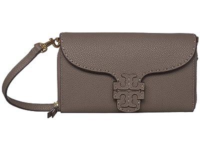 Tory Burch McGraw Wallet Crossbody (Silver Maple 1) Cross Body Handbags