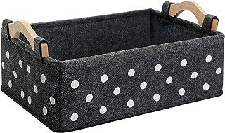 Small Storage Basket Cute Storage Bins Little Baskets for Bathroom Shelves Counter Organization and Storage Bedroom Cabine...