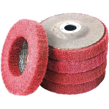Lot de 5 disques abrasifs pour meuleuse dangle en poly/éthyl/ène pour enlever la rouille JN2018700251 fibre de verre 5125x22mm 5Pcs bois pierre la peinture et le polissage des m/étaux