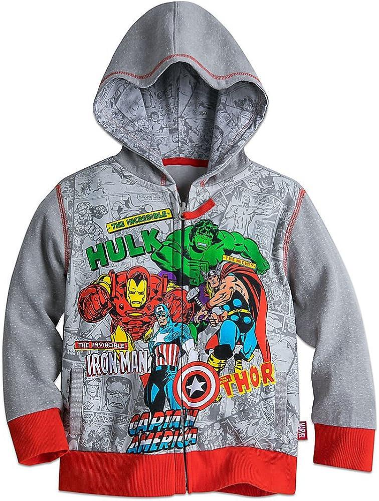 Marvel Avengers Zip Hoodie for Boys Gray